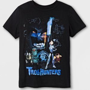 Trollhunters Boys' Short Sleeve T-Shirt Black, XL